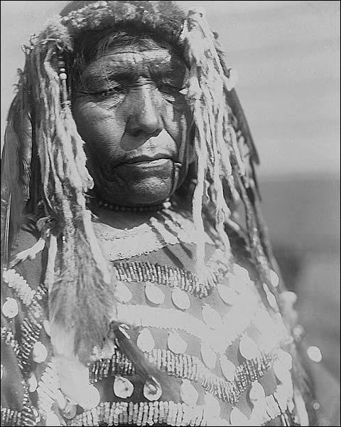 Piegan Woman Edward S Curtis Portrait 1910 Photo Print for Sale