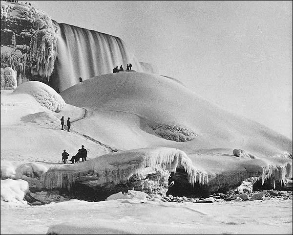 Niagara Falls Ice Mountain New York 1900 Photo Print for Sale