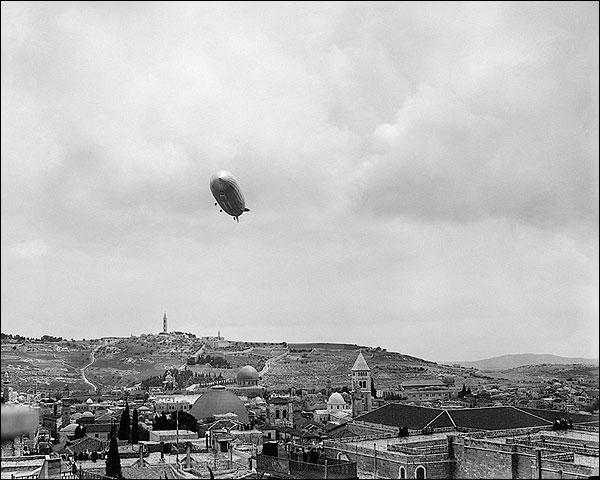 Graf Zeppelin Over Gethsemane, Jerusalem Photo Print for Sale