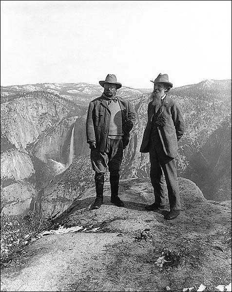 Teddy Roosevelt and John Muir Yosemite 1906 Photo Print for Sale