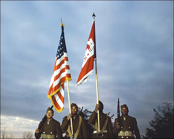 Black African American Color Guard 1941 Photo Print for Sale