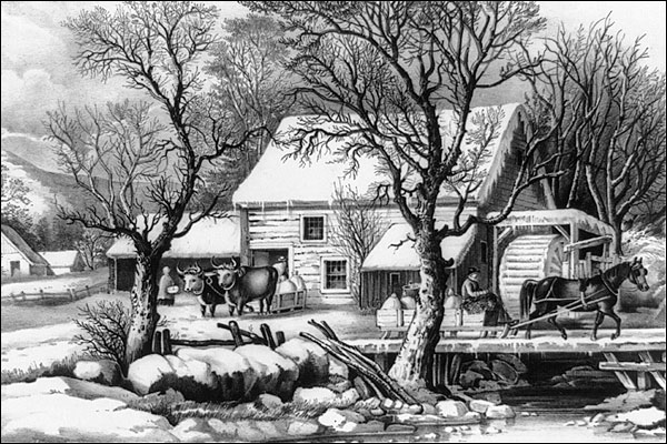 Currier & Ives Winter Scene 'Frozen Up' Photo Print for Sale