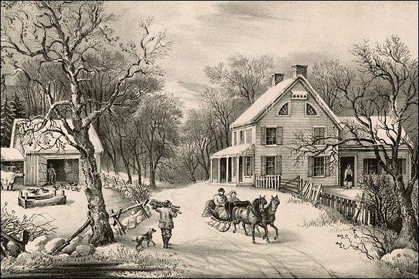 Currier & Ives 'American Homestead Winter' Photo Print for Sale