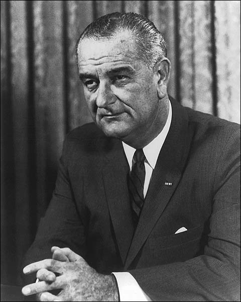 President Lyndon B. Johnson Portrait 1964 Photo Print for Sale