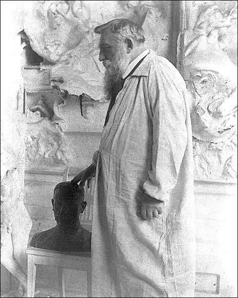 French Sculptor Auguste Rodin Portrait 1905 Photo Print for Sale