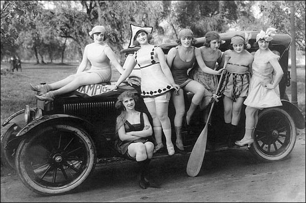 Mack Sennett's Sexy Bathing Beauties on Car Photo Print for Sale