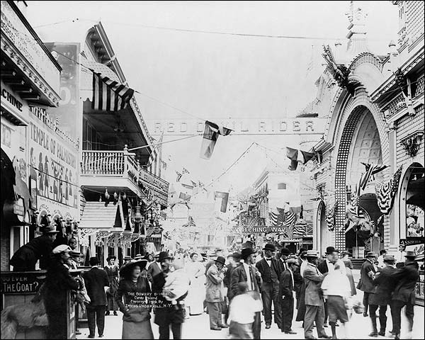 Coney Island Bowery New York City 1912 Photo Print for Sale