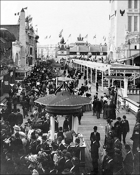 Coney Island Boardwalk New York City 1912 Photo Print for Sale