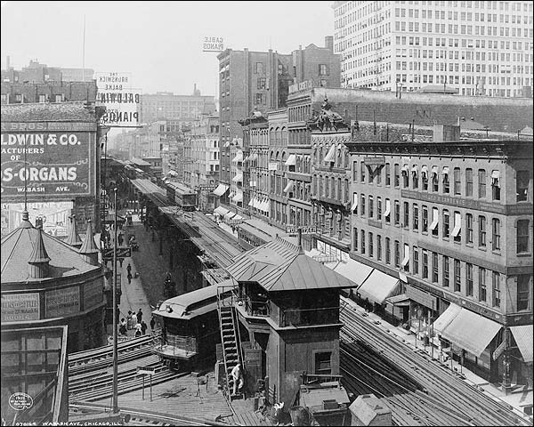 Wabash Avenue & Elevated Railroad, Chicago Photo Print for Sale
