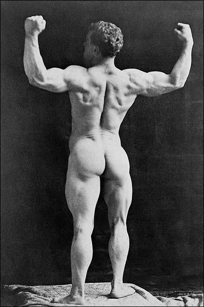 Victorian Bodybuilder Eugen Sandow Portrait Photo Print for Sale