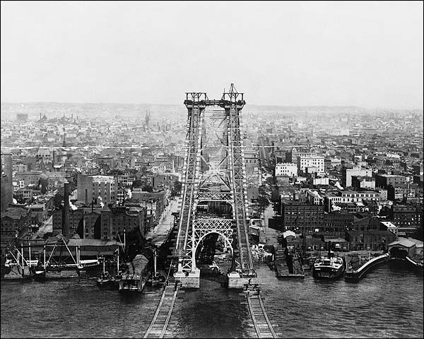 New East River Bridge New York City 1901 Photo Print for Sale