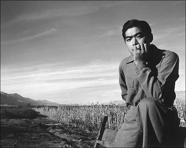 Ansel Adams Manzanar Japanese Portrait WWII Photo Print for Sale