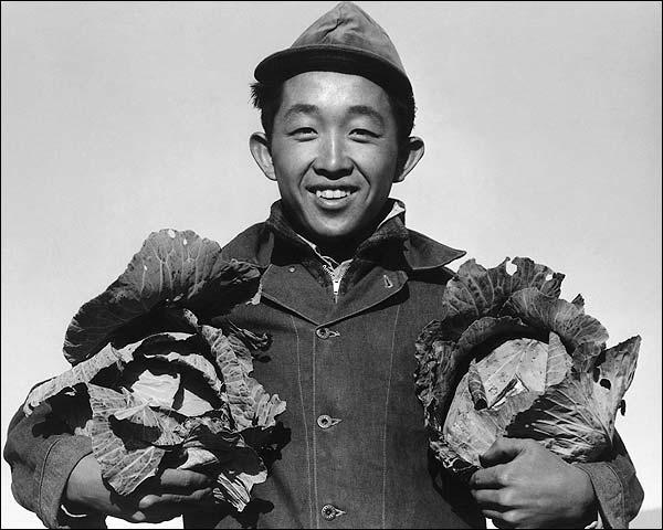 Ansel Adams WWII Manzanar Japanese Farmer Photo Print for Sale