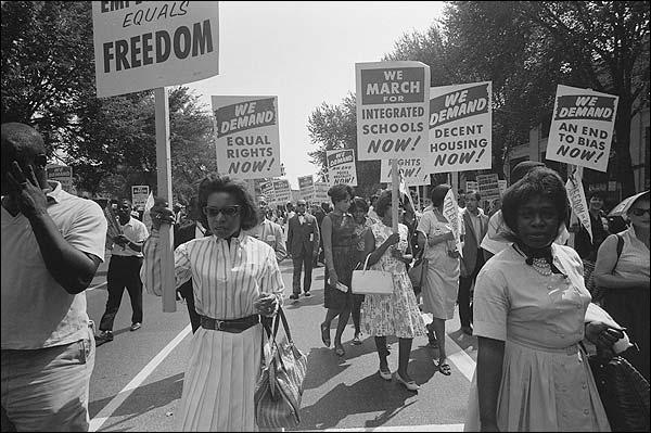 Civil Rights March D.C. Warren Leffler 1963 Photo Print for Sale