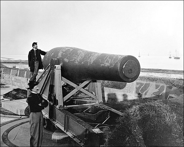Rodman Gun Cannon, Fort Monroe, Civil War Photo Print for Sale