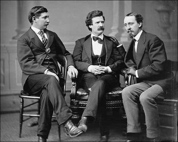 Mark Twain, Townsend & Gray Brady Portrait Photo Print for Sale
