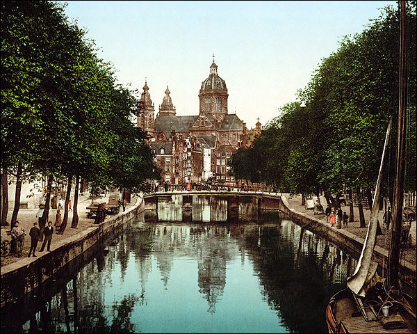 St. Nicholas Church, VoorBurgwal Amsterdam Photo Print for Sale