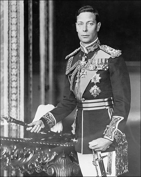 Great Britain King George VI Portrait WWII Photo Print for Sale