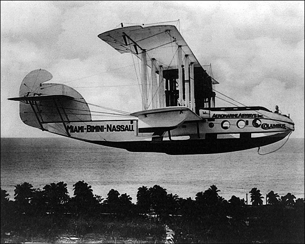 Sea Plane From Miami to Bahamas 1922 Photo Print for Sale