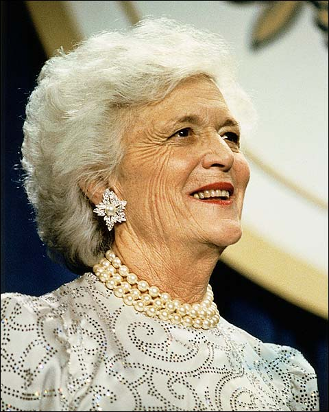 First Lady Barbara Bush Portrait Photo Print for Sale