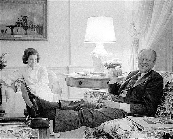 President Gerald Ford & Betty Ford at White House Photo Print for Sale