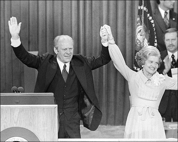 President Ford & Betty Ford Republican National Convention Photo Print for Sale