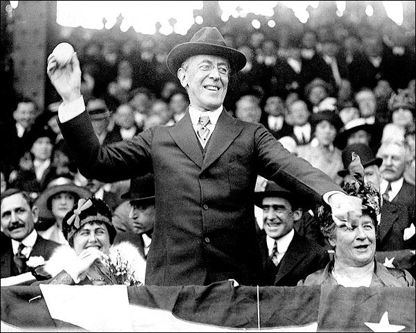 Pres. Woodrow Wilson World Series Baseball Photo Print for Sale
