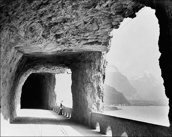 Lake Lucerne Switzerland Mountain Pass Photo Print for Sale