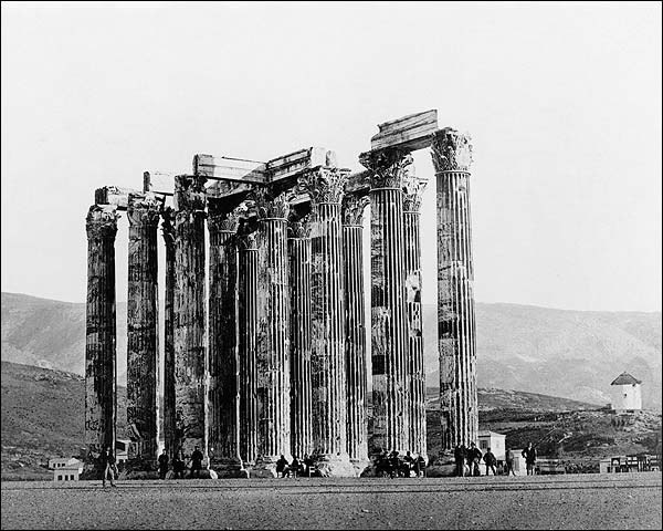Ancient Greek Temple of Olympian Zeus Greece Photo Print for Sale