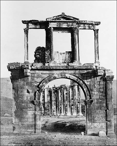 Arch of Hadrian & Road To Athens, Greece Photo Print for Sale