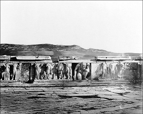 Theatre Dionysus Bas-Relief Acropolis Athens Photo Print for Sale