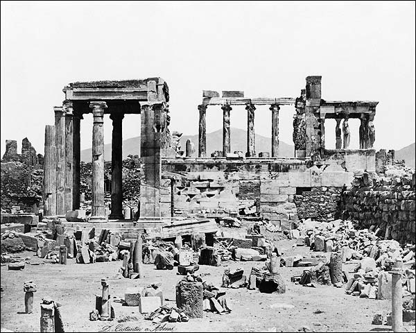 Acropolis Erechtheum Ancient Greek Temple Photo Print for Sale