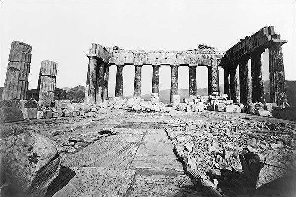 Parthenon Temple of Athena Athens in Greece Photo Print for Sale