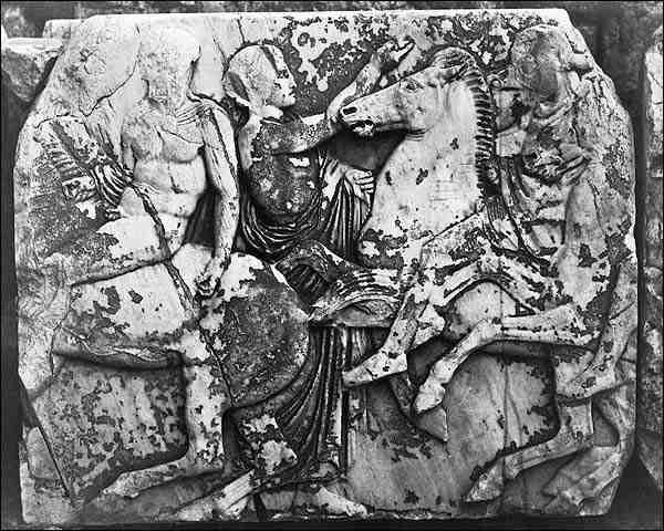 Frieze Sculpture Parthenon Acropolis Greece Photo Print for Sale