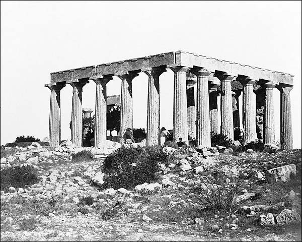 Temple of Aphaea Aegina Island Greece Photo Print for Sale