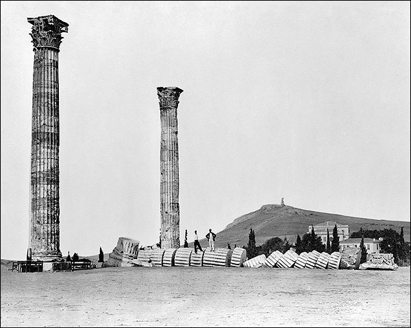 Greek Temple of Olympian Zeus Columns Photo Print for Sale