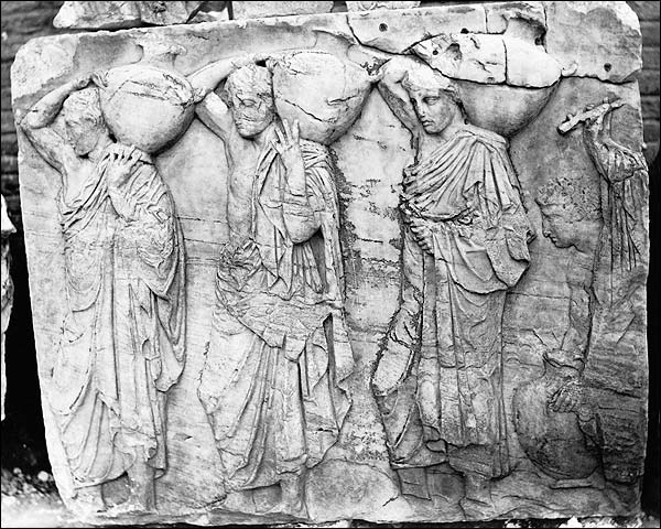 Bas-relief Ruins of Frieze Parthenon Greece Photo Print for Sale