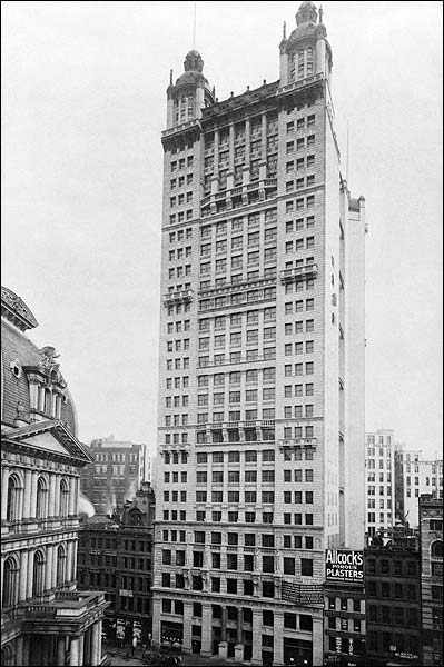 Park Row Building NYC 1899  Photo Print for Sale