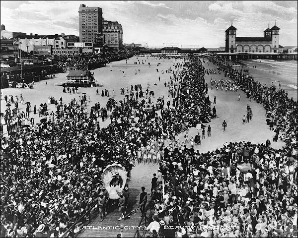 Early Beauty Pageant on Atlantic City Beach Photo Print for Sale