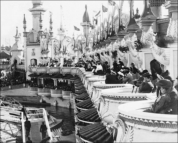 Luna Park Circus Coney Island New York 1904 Photo Print for Sale