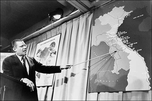 Secretary of Defense Robert McNamara 1965 Vietnam Photo Print for Sale