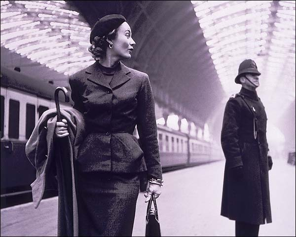 Model & Policeman Victoria Train Station London Photo Print for Sale