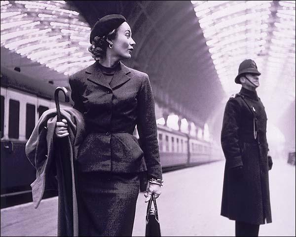 Model & Policeman Victoria Train Station London Photo Print for Sale