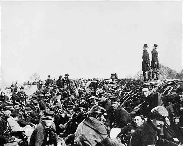 Civil War Union Soldiers at Fredericksburg, Virginia  Photo Print for Sale