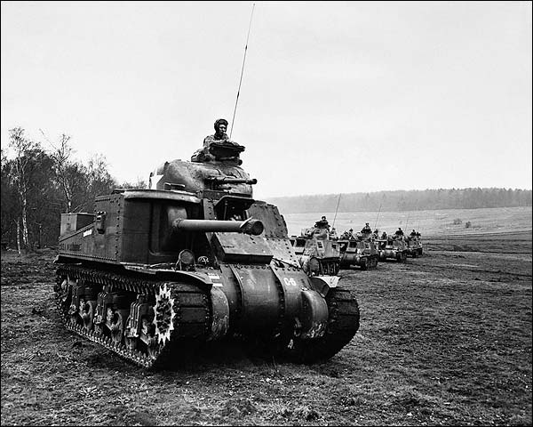 American Tanks in England WWII 1942 Photo Print for Sale
