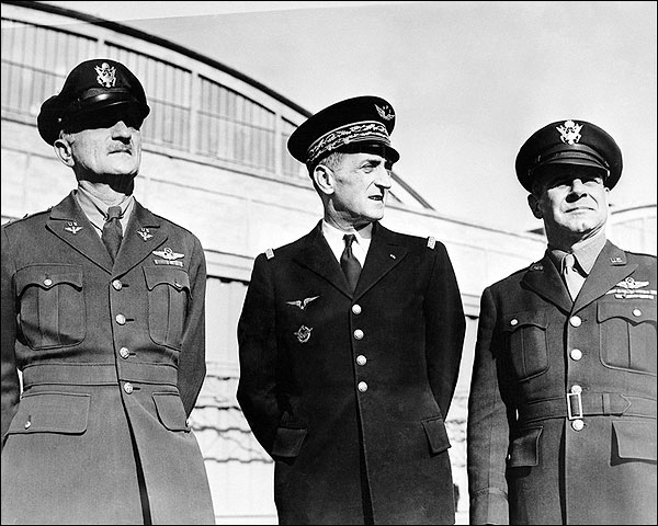 Generals Jimmy Doolittle, Bergeret & Spaatz WWII Photo Print for Sale