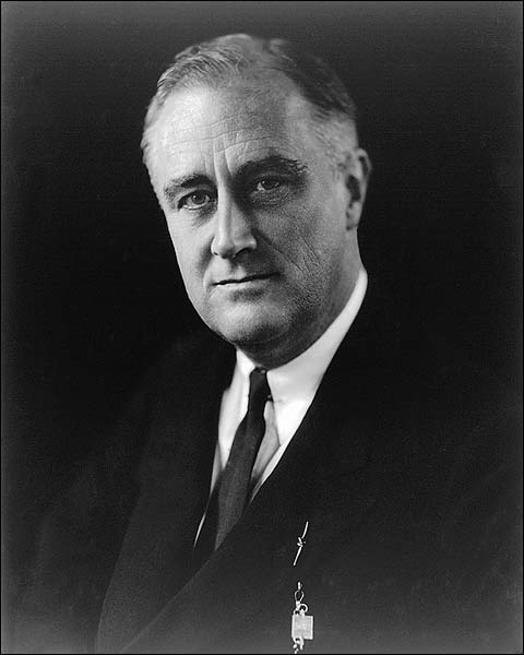 President Franklin D Roosevelt Portrait Photo Print for Sale