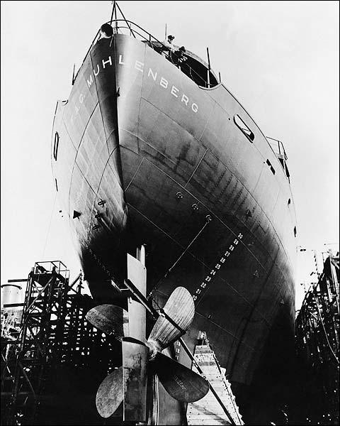 EC-2 Liberty Ship West Coast Shipyard WWII Photo Print for Sale