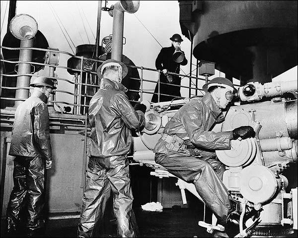U.S. Navy Gun Crew 50 Caliber Gun WWII Photo Print for Sale