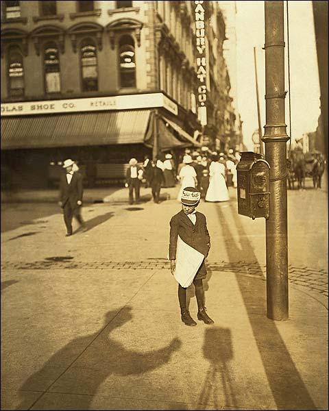 Indianapolis Newsboy Child Labor Hine 1908 Photo Print for Sale